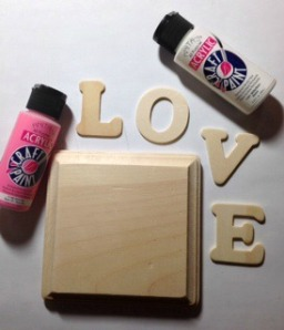LOVE sign supplies