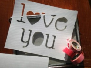 love you cut out